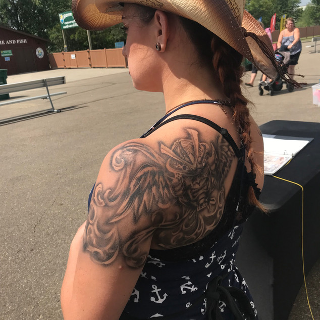 Samurai Airbrush Tattoo