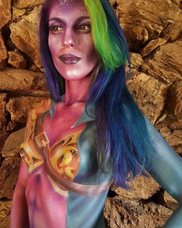 Warrior Body Paint