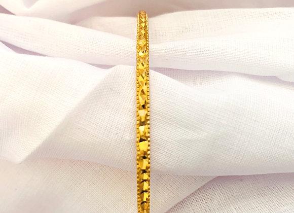 Gold Bangle Bracelet Classic Elegant Aluminium