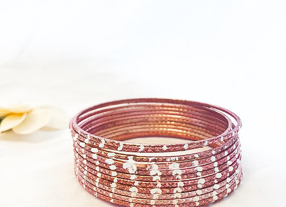 Pink Aluminium Simple classic Bangle
