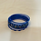 Thumbnail: Blue bangle Set with Coloured Stars and Silver Sections Aluminium
