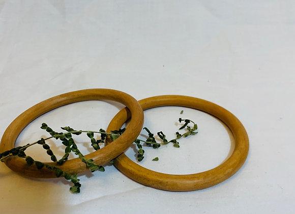 Light wood simple bangle