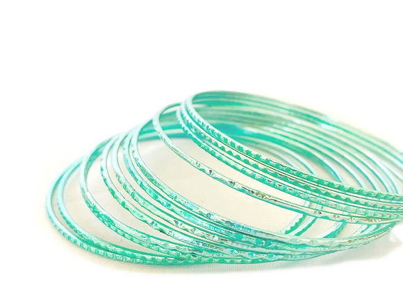 Turquoise Green-Blue Bangle set Classic Simple