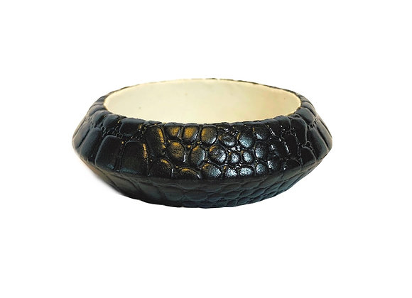 Textured leather bangle