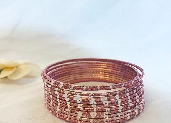 Pink Aluminium Simple classic Bangle