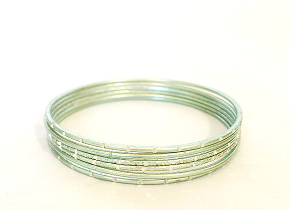 Light Green bangles set simple aluminium