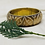 Thumbnail: Brass and Bone Floral designed patterned Vintage Handmade bangle