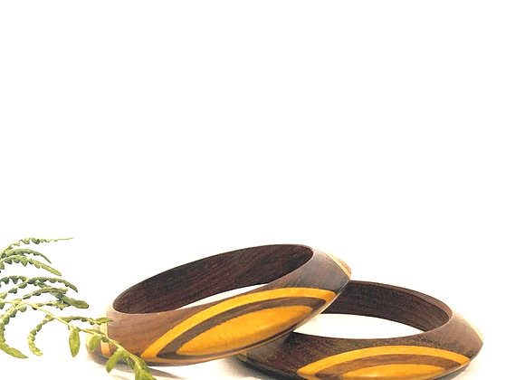 Patterned Wood Bangles