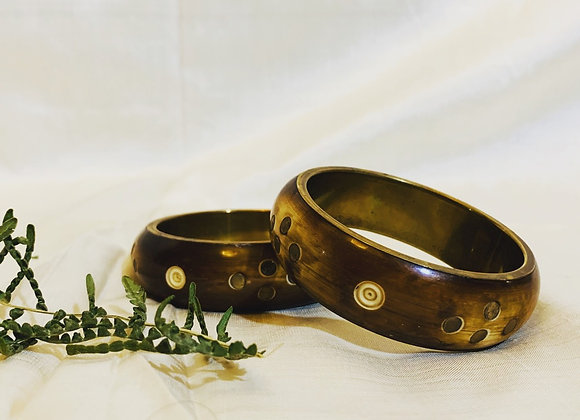 Authentic Wood and Brass Bangle