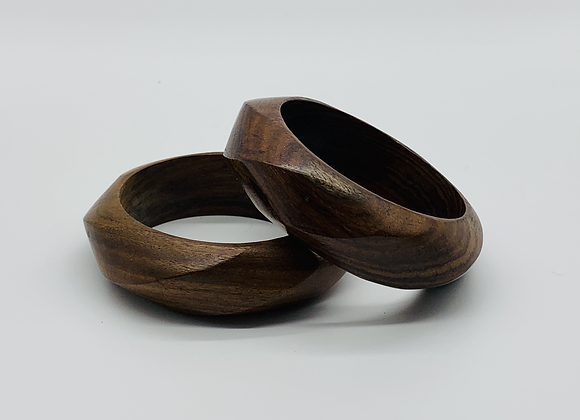 Geometric Wooden Bangle best Seller