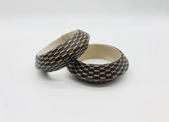 Vintage Handmade Faux leather Bangle