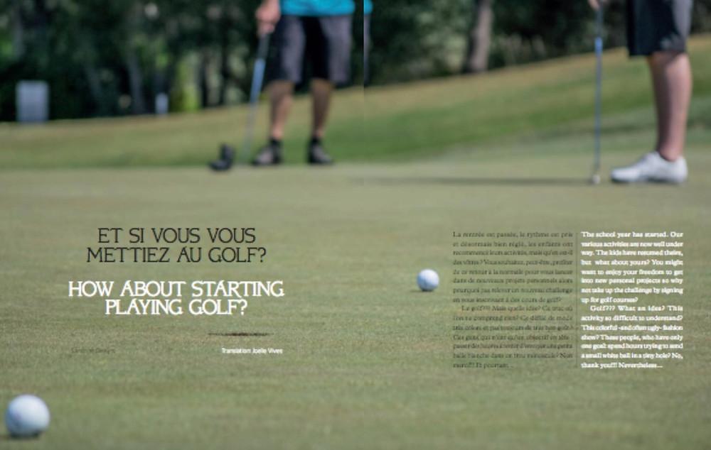 Et si vous vous mettiez au golf