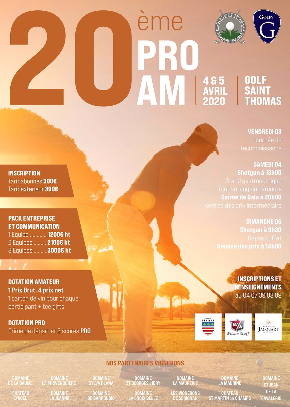 20ème Pro Am golf Saint Thomas