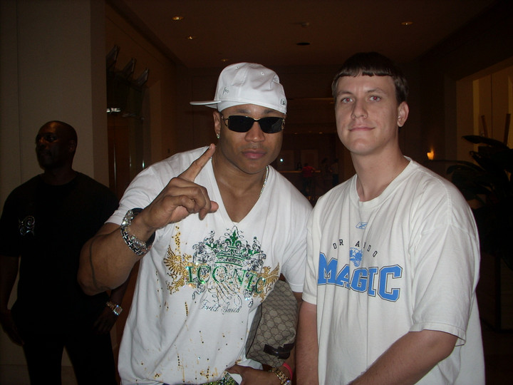 Hanging out with LL Cool J