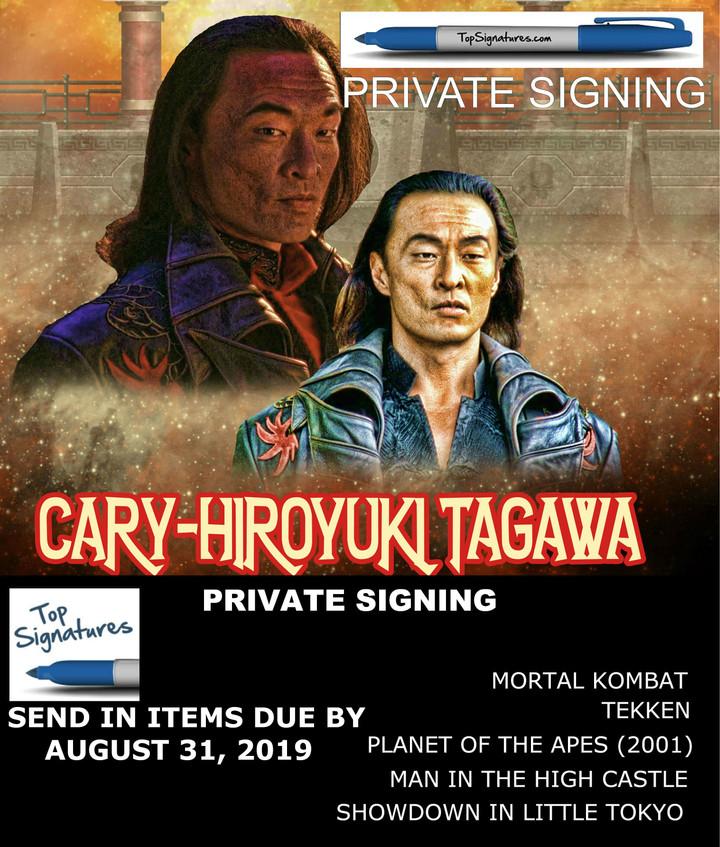 Private Signing with Cary-Hiroyuki Tagawa