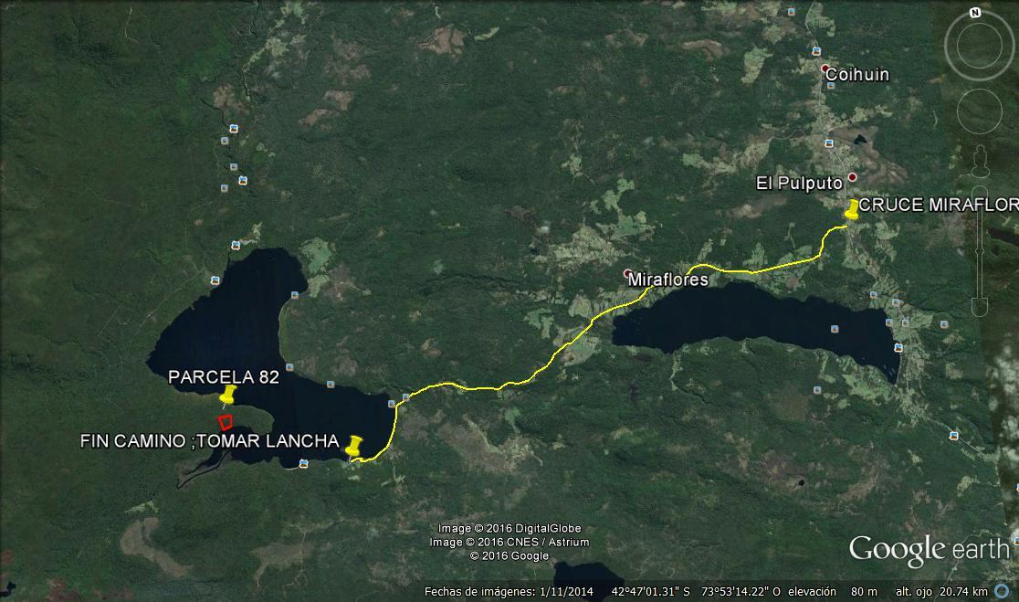 Ruta Lago Tepuhueico