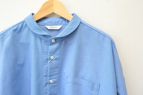 HARVESY クールマックスオックスラウンドカラービッグシャツ