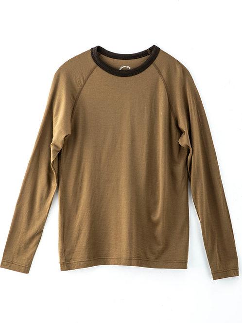 山と道 Light Merino Long Sleeve T-Shirt Coyote Brown