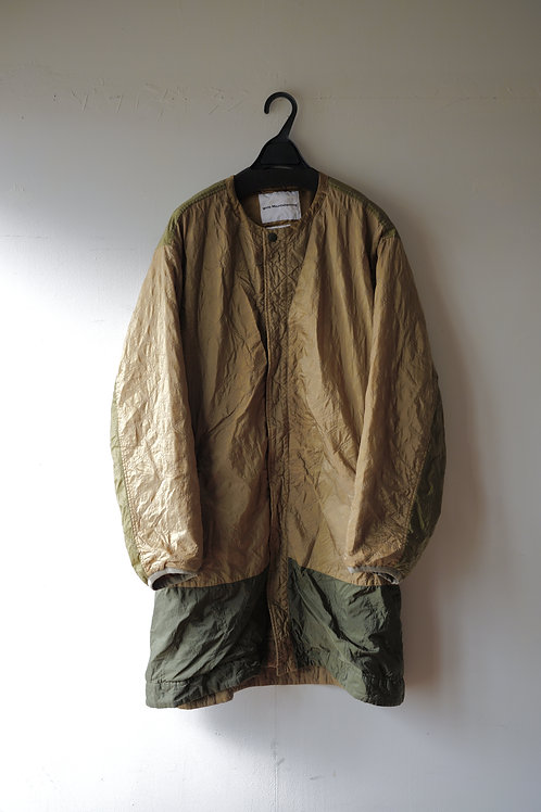 White Mountaineering SHRINKED QUILTED NO COLLAR COAT