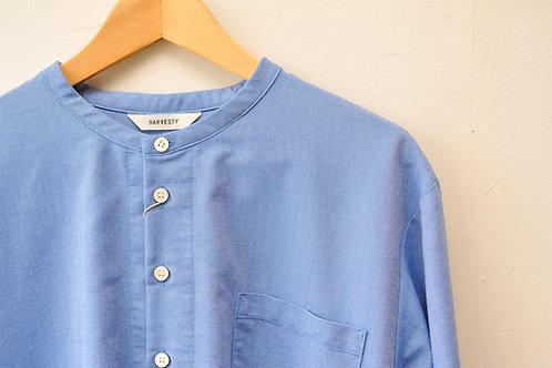 HARVESY COOLMAX BAND COLLAR LONG SHIRT  クールマックス バンドカラー ロングシャツ