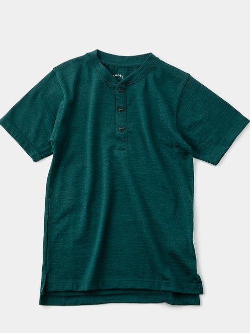 山と道 Merino Henry Neck T-Shirt