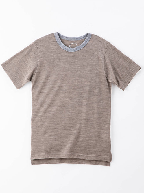 山と道 Light Merino Crew Neck T-shirt Nomad Marl