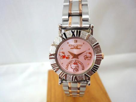 美品 ハローキティ 40周年記念 腕時計 シルバーエレガンスウォッチ メタルバンド 訳あり