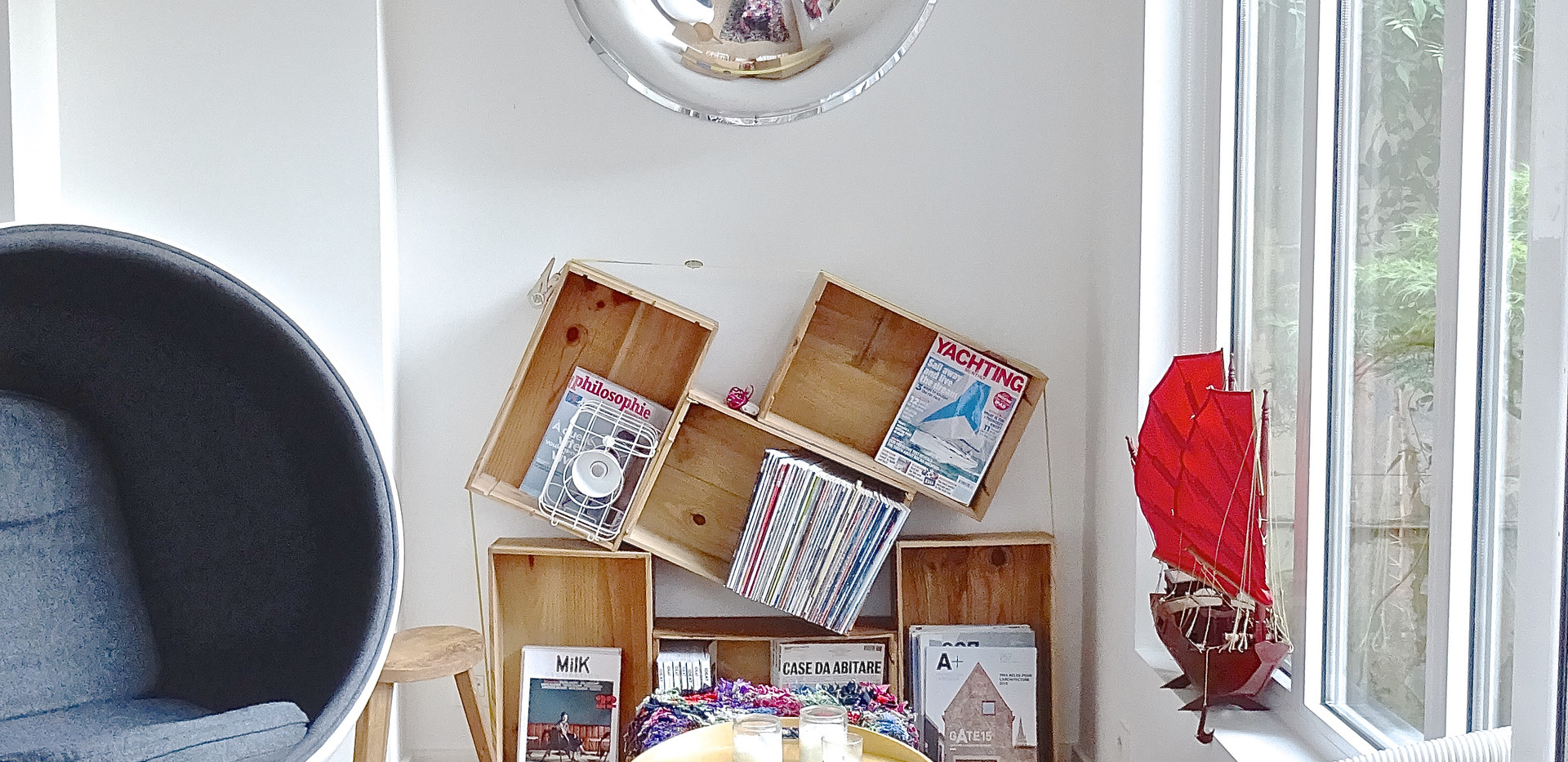 Book shelves by architect Julien Legros.