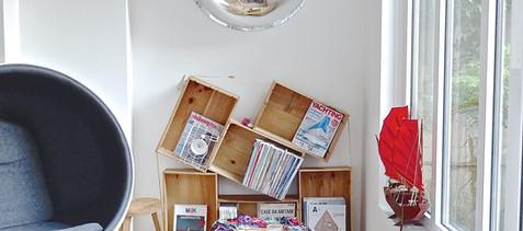 Book shelves design by architect Julien Legros.