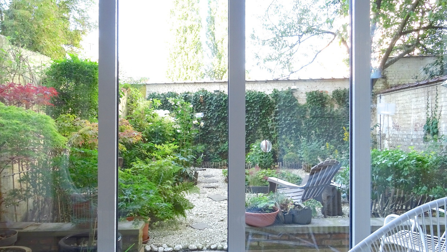 Garden view from sitting area