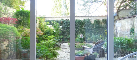 Garden view from sitting area.