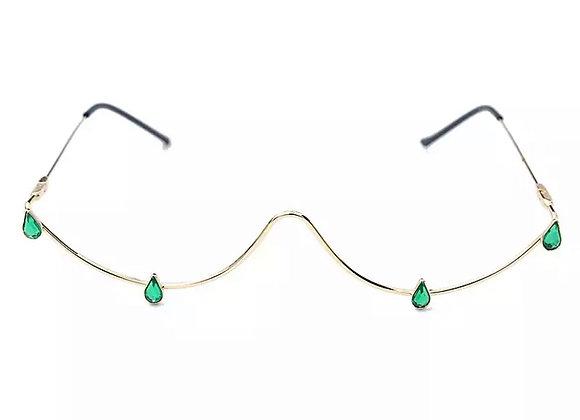 'Dripped' Emerald Glassless