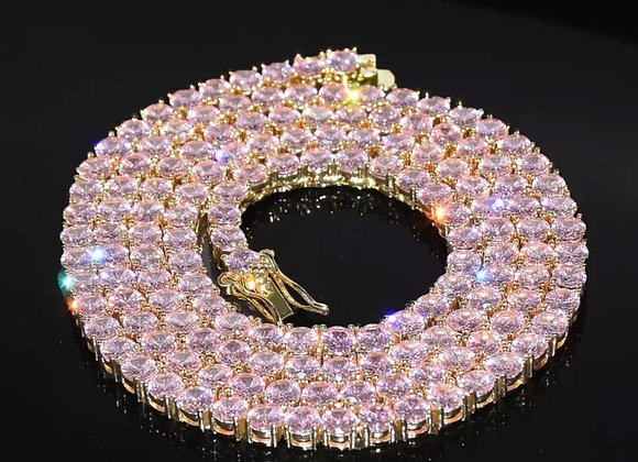 Venus Tennis Necklace- Pink/Rose