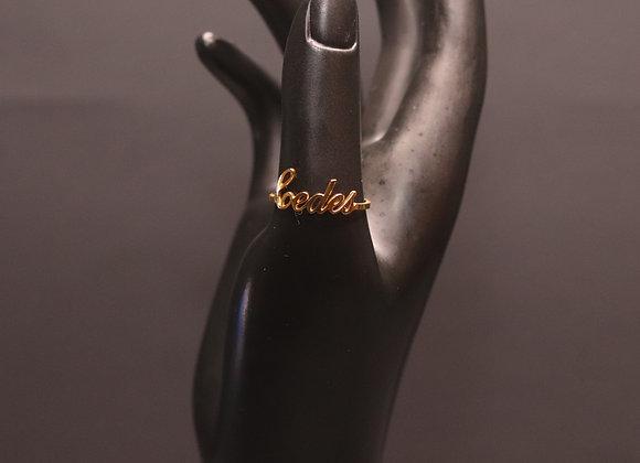 Gilded Custom Ring