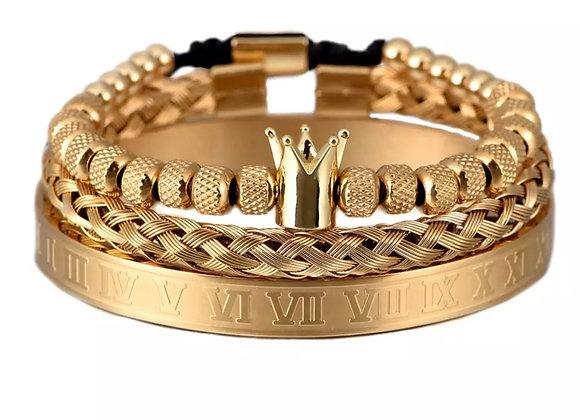Royalty Braclet set- Gold