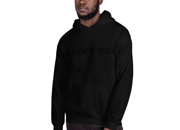 Black Lucky1020 Official Collection Hoodie
