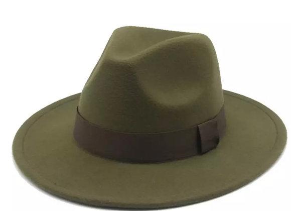 Hardaway Fedora Hat- Army Green