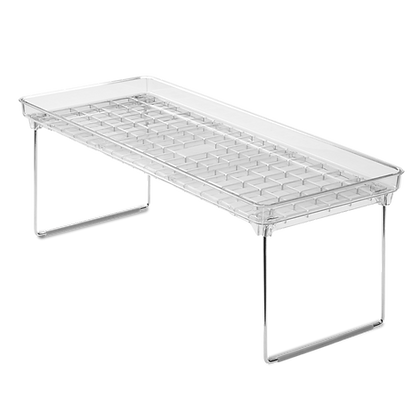 Large Clear Stacking Shelf