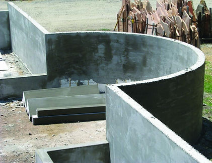H-Form curved wall