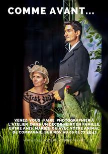"""Cécile et Gabriel dans le décor """"comme avant"""" Reproduction interdite"""