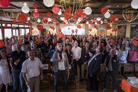 Laurent Berger en Alsace. AG du SCEA (Syndicat Chimie Energie Alsace). Intervention de Laurent Berger face à 95 militants issus de 45 sections. Reproduction interdite