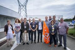 Laurent Berger en Alsace Sabine Gies (SG adjointe URI GE), Christelle Polak (élue CFDT Fessenheim), Dominique Bousquenaud (SG FCE), Cyrille, Alain Colly (animateur CFDT métier nucléaire EDF), Pascal Bakchich (élu CFDT Fessenheim), Laurent, Vincent Rusch (DS CFDT Fessenheim), Dominique Toussaint (SG URI GE), Pascal Meyer (DS CFDT Ingénierie nucléaire EDF), Régine Houillon (élue CFDT Fessenheim), Yannick Meal (élu CFDT Fessenheim Reproduction Interdite