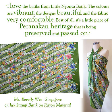 peranakan batik ninya nyonya rayon sarong singapore indonesia culture