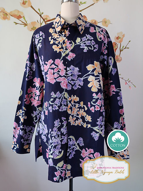SBML: Orchid Black on cotton (B). No Lining. size XXL