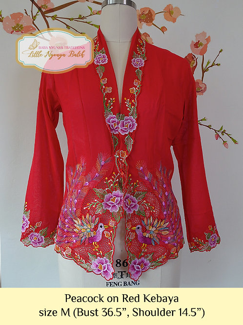 CK: Peacock on Red. size M