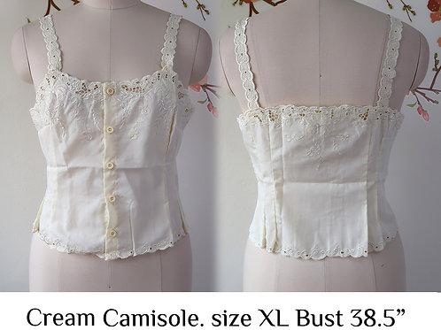 Cream Chrysanthemum Camisole size XL B