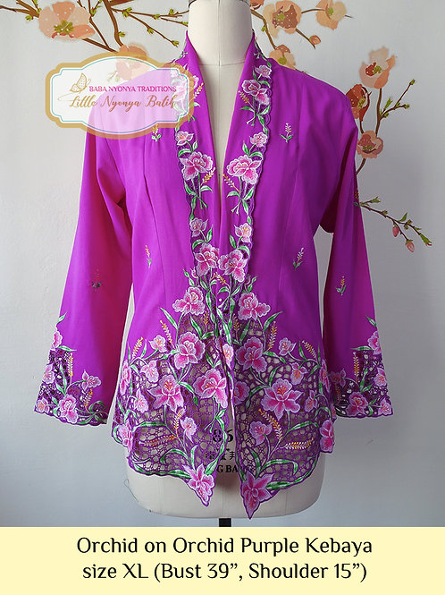 H: Orchid in Orchid Purple Kebaya. Size XL
