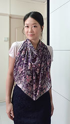 handmade cotton scarf purple