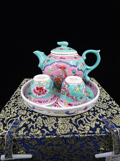 Mini Tea Set Turquoise in Box