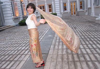 vintage silk peranakan batik singapore